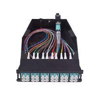 MTP-24 to 12x LC Duplex Type A 24 Fibers OM3 Multimode MTP/MPO Cassette