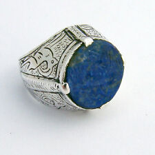 Antique Persian Tribal Ring Lapis Sterling Silver