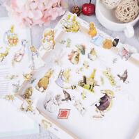 100pcs rabbits cardstock die cuts for scrapbooking happy planner/card making JCA