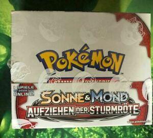 Pokemon Sonne Mond Aufziehen der Sturmröte Themendeck Display OVP NEW