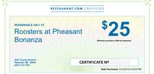 $25 Gift Certificate Rooster's at Pheasant Bonanza Tekamah, Nebraska