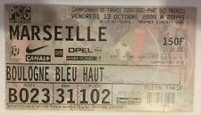 TICKET / BILLET PSG-MARSEILLE 13/10/2000 D1 paris saint germain sg