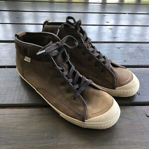 SIMPLE Waltham Brown Chukka Boots Leather Lace Up Mid Ankle Shoes Men's Size 11