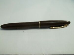 Vintage W A Shaeffer's Fountain Pen Brown with 14K nib see photos