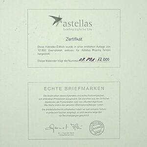 """Astellas Briefmarken Kalender 2007 """"Das Ewig Weibliche"""" limitiert"""