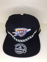 OKC Strapback Black Golden Chain NBA Basketball Oklahoma City Thunder Hat Cap