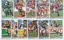 1992 Regina NSW Rugby League MANLY-WARRINGAH SEA EAGLES Team Set (11 Cards) ++++