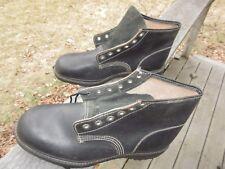 """Unknown Maker 6"""" Split Leather Work Boots Soft Toe / Us Men 7 1/2 Ee / Deadstock"""