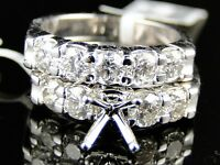 14K Womens White Gold Diamond Wedding Semi Mount Engagement Band Ring 1.80 Ct