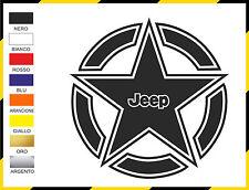 Adesivo cofano stella Jeep Wrangler YJ - TJ - JK STC02 CANALIZZATO NO BOLLE ARIA