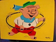 Vintage Sifo Toys Pig Wooden Puzzle Excellent Condition 1950's
