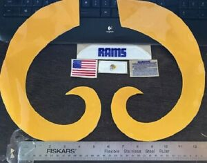 LOS ANGELES RAMS ( NEW TB FULL SIZE) Football Helmet Decals/Extras XXL