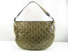 US Seller Authentic SALVATORE FERRAGAMO FABRIC LARGE HOBO BAG Good