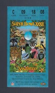 1997-1998 NFL SUPER BOWL XXXII TICKET STUB GREEN BAY PACKERS vs DENVER BRONCOS