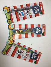 Dr. Seuss Fun Cat In The Hat Giant Erasers And Pencils Package New!