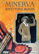 Minerva #14 c.1923 Vintage Knitting Patterns for Ladies Sweaters Prohibition Era