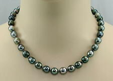 Tahiti-Perlenkette Tahitiperlen multicolour Barockform Halskette geknotet 45 cm