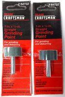"Craftsman 64722 1"" x 1/2"" Straight Silicon Carbide Grinding Point USA 2PKS"