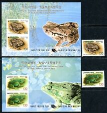 417 - Korea - Wild Animal - Frog - MNH Set + Souvenir Sheets
