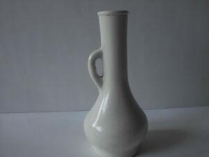 """Rare German Br-Verp Ceramic Flower Vase - White Long-Stem Flower Vase 6"""" tall"""