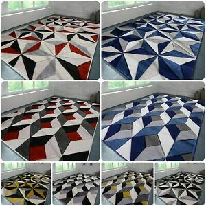 New Extra small Large Geometric Area Rugs Modern Carpet Living Room Bedroom Mats