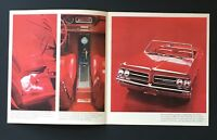 1961 Pontiac Sales Brochure Tempest Le Mans Convertible Sedan Vintage Car 16 Pag
