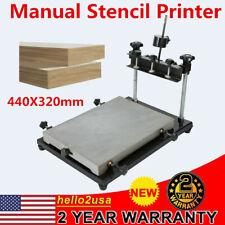 High Precision Manual Stencil Printer Solder Paste Printing Machine 440X320mm