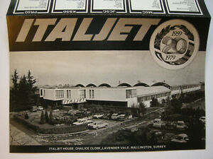Italjet UK catalogue/Brochure for 1979 6 page in English. Black & white.