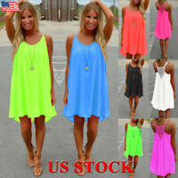USA Womens Beachwear Beach Short Dress Bikini Cover Up Kaftan Ladies Mini Dress