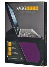 Zagg Keys Profolio Folding Ipad Case Stand Protector Bluetooth Keyboard Purple