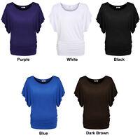 Lady Women O-Neck short Sleeve casual slim tunic T-Shirt Blouse tops Tee