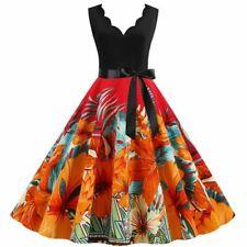 Vestido de Fiesta de Verano para Mujer Escote en V Maxi Vestido Largo Floral para Mujer Casual Cóctel