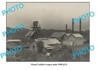 OLD 8x6 PHOTO FEATURING MOUNT CUTHBERT COPPER MINE c1908 QUEENSLAND