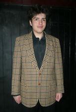 Mayfair/ John G Hardy checked wool jacket 42R brown/ multi football buttons vtg?