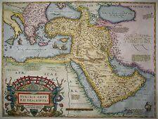 Turcici Imperii Descriptio - Die Türkei von Abraham Ortelius - Original von 1574