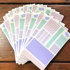 20 sheets Mrs Grossmans Stickers Fabric Swatches Cozy Cottage Dollhouses Fashion