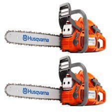 "Husqvarna 450 20"" 50.2cc Gas Powered Chainsaw (2 Pack) (Certified Refurbished)"