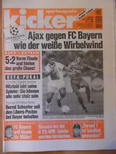 KICKER 33 - 20.4. 1995 Ajax Amsterdam-Bayern 5:2 Dortmund-Juventus Turin 1:2