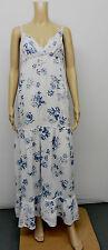 Full Length Linen Floral Maxi Dresses for Women