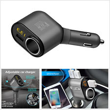 3.1A Car Cigarette Lighter Socket Adapter Charger with 3USB Port Voltage Monitor