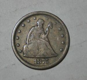 1875-S Twenty-Cent Piece  20-Cents G461