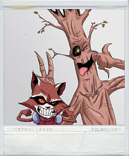 Waterson's Rocket & Groot Polariod sticker Calvin & Hobbes