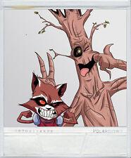 Waterson's Rocket & Groot Polariod sticker Calvin & Hobbes
