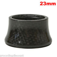 "OMNI Racer WORLDS LIGHTEST Integrated Headset Conical Carbon Spacer 1-1/8"" 23mm"