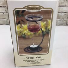 "Florasense Simmer Vase for Burning Fragment Oil with candle 6.75"" Tall"