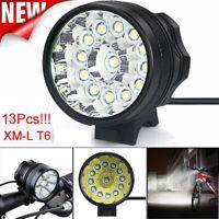 90000 LM 13x T6 LED 3 Modes Bicycle Headlamp Bike Headlight Cycling Torch Light