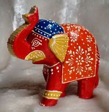 Elephant Wood Carving Ornament Fair Trade Craft Hand Carved Statue Elephants