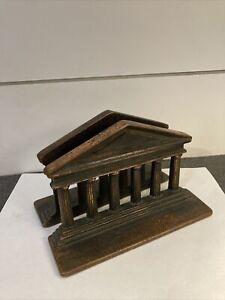 Vintage Verona Roman Greek Parthenon Temple Columns Bookends Pair Cast Iron