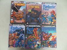 MARVEL ESSENTIAL FANTASTIC FOUR 6 TPB COMIC BOOK LOT #'S 2 4 5 7 TWO-IN-ONE 2 4