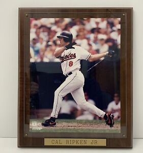 Vintage Cal Ripkin Jr. Plaque Orioles #8 Sport Wood 10x13 Made in the USA